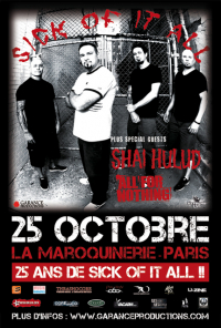 Sick Of It All + Shai Hulud + All For Nothing
