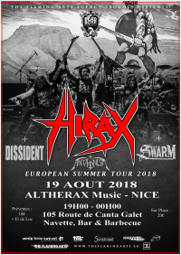 Hirax European Summer Tour 2018